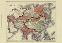 Small Antique Map of Asia (P) Fine-Art Print
