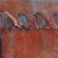 Row of Sparrows I Fine-Art Print