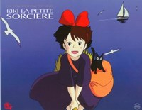 Kiki's Delivery Service (French Title) Cartoon Wall Poster