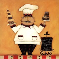 Chef with Desserts Fine-Art Print