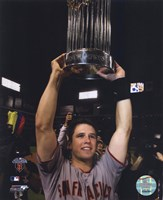 Buster Posey With World Series Trophy Game Five of the 2010 World Series Fine-Art Print