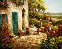 Sunny Terrace I Fine-Art Print