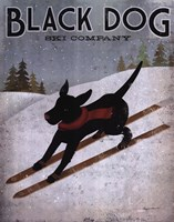 Black Dog Ski Fine-Art Print