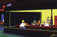 The Simpsons Nighthawks Spoof Fine-Art Print