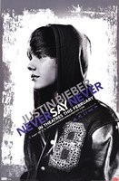 Justin Bieber - Never Say Never Wall Poster