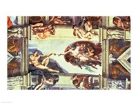 Sistine Chapel Ceiling: Creation of Adam, 1510 Fine-Art Print