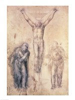 Inv.1895-9-15-509 Recto W.81 Study for a Crucifixion Fine-Art Print