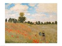 Wild Poppies, near Argenteuil (Les Coquelicots: environs d'Argenteuil), 1873 Fine-Art Print