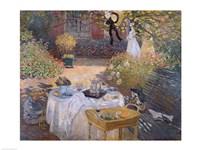 The Luncheon: Monet's garden at Argenteuil, c.1873 Fine-Art Print