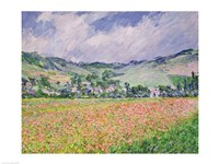 The Poppy Field near Giverny, 1885 Fine-Art Print