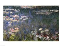 Waterlilies: Green Reflections, 1914-18 (left section) Fine-Art Print