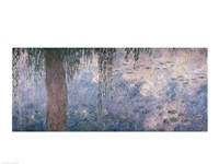 Waterlilies: Morning with Weeping Willows, 1914-18 (right section) Fine-Art Print