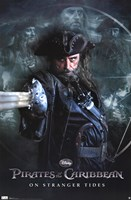 Pirates of the Caribbean 4 - Black Beard Wall Poster