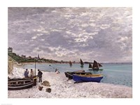 The Beach at Sainte-Adresse, 1867 Fine-Art Print