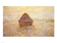 Haystacks, Sun in the Mist Fine-Art Print