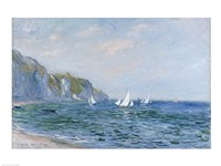 Cliffs and Sailboats at Pourville Fine-Art Print
