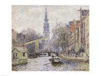 Canal a Amsterdam, 1874 Fine-Art Print