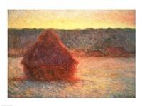 Haystacks at Sunset, Frosty Weather, 1891 Fine-Art Print