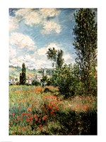 Path through the Poppies, Ile Saint-Martin, Vetheuil, 1880 Fine-Art Print