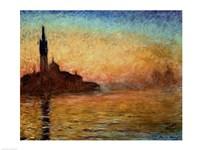 View of San Giorgio Maggiore, Venice by Twilight, 1908 Fine-Art Print