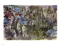 Waterlilies with Reflections of Willows, c.1920 Fine-Art Print