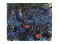 Waterlilies with Reflections of a Willow Tree, 1916-19 Fine-Art Print