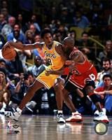 Michael Jordan & Kobe Bryant 1998 Action Fine-Art Print