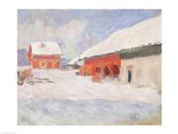 Norway, Red Houses at Bjornegaard, 1895 Fine-Art Print