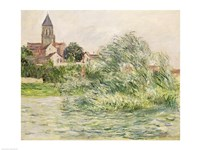 The Church and the Seine at Vetheuil, 1881 Fine-Art Print