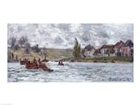 Village de Lavacourt, pres de Vetheuil, 1878 Fine-Art Print
