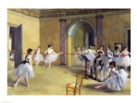 The Dance Foyer at the Opera on the rue Le Peletier, 1872 Fine-Art Print