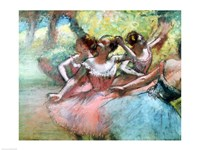 Four ballerinas on the stage Fine-Art Print