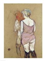 Two Semi-Nude Women at the Maison de la Rue des Moulins, 1894 Fine-Art Print
