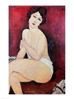 Large Seated Nude Fine-Art Print