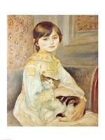 Julie Manet with Cat, 1887 Fine-Art Print