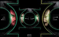 Green Lantern - faces Wall Poster