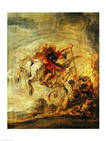 Bellerophon Riding Pegasus Fighting the Chimaera Fine-Art Print
