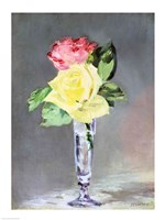 Roses in a Champagne Glass, c.1882 Fine-Art Print