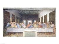The Last Supper, 1495-97 (post restoration) Fine-Art Print