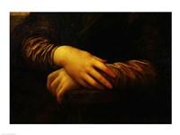 Mona Lisa, detail of her hands Fine-Art Print