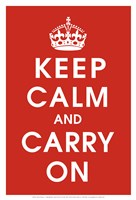 Keep Calm (Red) Fine-Art Print