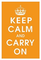 Keep Calm (orange) Fine-Art Print
