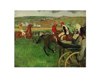 The Race Course: Amateur Jockeys near a Carriage, 1876-1887 Fine-Art Print