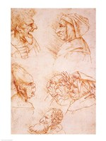 Seven Studies of Grotesque Faces Fine-Art Print