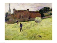 Haymaking in Brittany, 1888 Fine-Art Print