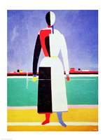 Woman with a Rake Fine-Art Print