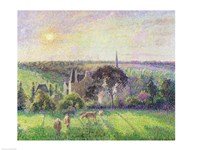 The Church and Farm of Eragny, 1895 Fine-Art Print