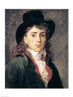 Portrait of Baron Antoine Jean Gros Fine-Art Print
