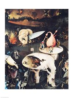 The Garden of Earthly Delights: Hell, right wing of triptych, c.1500 Fine-Art Print
