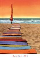 Orange Beachwalk Fine-Art Print